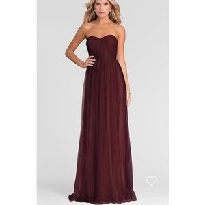Jenny Yoo Black Cherry Annabelle Bridesmaid Dress
